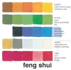 Feng shui. Good to know :)