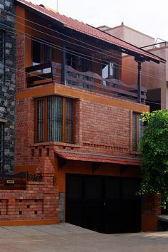 61 ideas exterior brick detail decor for 2020 Indian Home Design, Kerala House Design, Brick House Plans, Dream House Plans, Brick Architecture, Vernacular Architecture, Brick Detail, Brick Design, Exterior Design