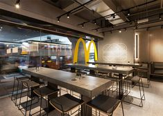 Mcdonalds restaurant layout designMcdonalds restaurant layout designPOP-UP KITCHEN: Eating on canvas on inspirationdeGraphic design - inspiration for poster design - POP-UP KITCHEN: food on canvasMcdonalds restaurant layout design Restaurant Layout, Restaurant Interior Design, Restaurant Interiors, Restaurant Concept, Mcdonalds Restaurant, Fast Food Restaurant, Restaurant Restaurant, Concrete Table, Restaurants
