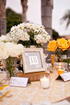 style me pretty - real wedding - usa - california - san diego wedding - ntc promenade at liberty station - reception decor - table decor - centerpiece
