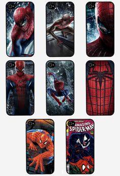 PHONE CASE IPHONE 4/4S 5 5C 5S SPIDER MAN MARVEL DC COMICS THE AMAZING SPIDERMAN