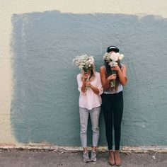 friends && flowers