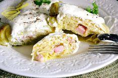 z cukrem pudrem: gołąbki z tartymi ziemniakami Recipies, Food And Drink, Cooking Recipes, Eggs, Meat, Chicken, Pierogi, Breakfast, Tart