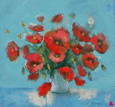 papaveri  in un vaso di Natalia Khromykh