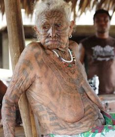 """""""Papua New Guinea has a rich tattooing past, but whilst the practise has remained strong in other parts of the Pacific, in this country it is dying out. Tattooing in PNG was predominantly women's business and, whilst there are still women alive in coastal Papua with full body and facial tattoos, they are very old. """""""