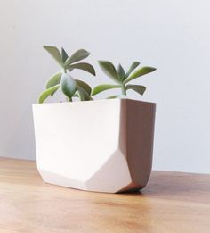 Slip-Besetzung Porzellan geometrische Pflanzer