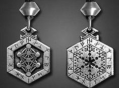 Norse Magic Viking Rune Set Pendant Necklace Odin Spell Armanen Runes Amulet
