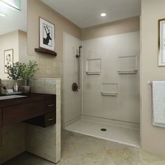 Image result for alternative bathroom flooring low threshold shower