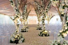 Garden themed wedding trees - salvage trees & branches from forrest