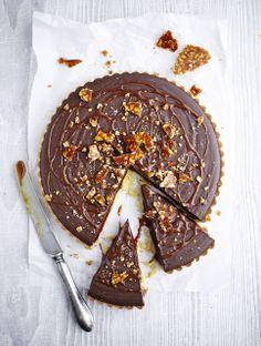 ... peanut, caramel and chocolate tart ...