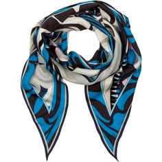 Pre-owned Emilio Pucci Scarf ($95) ❤ liked on Polyvore featuring accessories, scarves, black, emilio pucci scarves, emilio pucci, multi colored scarves, black scarves and black shawl
