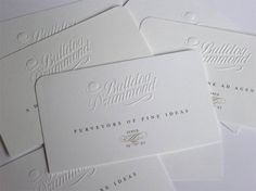 Cute words... 20 Clean White Letterpress Business Cards   Inspiration