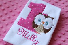 Look Whoo's Turning One Owl Onesie by TheBarkerBoutique on Etsy Owl Themed Parties, Party Themes, Party Ideas, Baby Birthday, Birthday Parties, Turning One, Embroidery Applique, Onesies, Birthdays