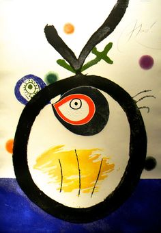 JOAN MIRO , Quatre colors aparien el món: one plate (D. see C. Spanish Painters, Spanish Artists, Joan Miro Paintings, Abstract Expressionism, Abstract Art, Abstract Landscape, Ecole Art, Visionary Art, Wedding Humor