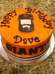 SF Giants themed baseball birthday cake by Tu-Tu's Cupcakery. Baseball Birthday Cakes, Goodies, Desserts, Food, Sweet Like Candy, Tailgate Desserts, Gummi Candy, Dessert, Postres