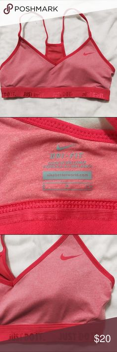 """AUTHENTIC NIKE dri-fit sports bra NWOT in excellent condition. No flaws!!! Size S! Has """"just do it"""" on the bottom band. Nike Intimates & Sleepwear Bras"""