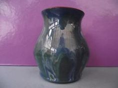 Colourful Antique Schofield Wetheriggs Pottery Small Vase Blue/Green Cumbria in Pottery, Porcelain & Glass, Pottery, Regional | eBay
