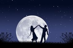 so much romance involved that it's magical. dancing in the moonlight.