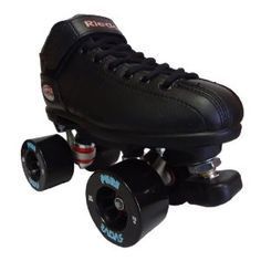 Amazon.com: Riedell R3 Pure Black Outdoor Speed Skates - R3 Pure Roller Derby: Sports & Outdoors
