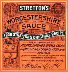 Stretton Worcestershire Sauce label - early 1900s