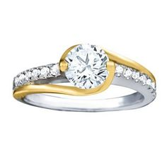 Two tone engagement ring | JD Jewelers | Midland and Gladwin, MI
