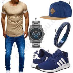 Herren-Style mit beigem Shirt und Djinns Snapback (m0557) #outfit #style #fashion #ootd #männer #herren #outfit2017 #outfit #style #fashion #menswear #mensfashion #inspiration #shirt #cloth #clothing #styling #sneaker #menstyle #inspiration