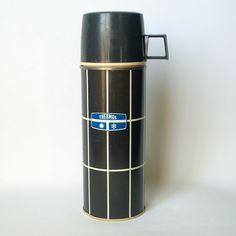 GEOMETRIC BLACK & WHITE Vintage Thermos