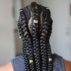 Take Care of That Gorgeous Afro-Textured Hair: 50 Wonderful Protective Styles! Big Box Braids Hairstyles, Braided Ponytail Hairstyles, African Braids Hairstyles, Loose Hairstyles, Black Women Hairstyles, Braided Mohawk, Goddess Hairstyles, Prom Hairstyles, Protective Hairstyles