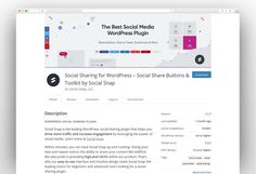 Social Sharing for WordPress – Social Share Buttons & Toolkit by Social Snap Most Popular Social Media, Social Share Buttons, Wordpress Plugins, Lessons Learned, Personal Branding, Online Marketing, Templates, Learning, Models