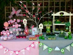What an adorable inventive way to celebrate boy girl, brother sister, twins, cousins, friends birthday party! Frog Butterflies nature