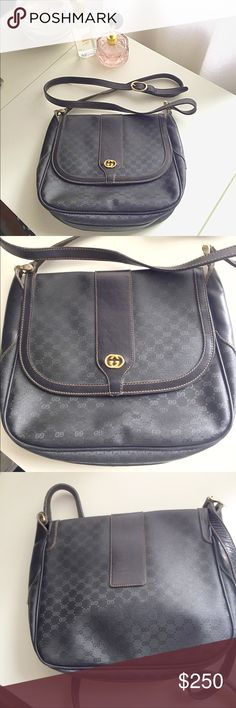 Authentic Vintage Gucci crossbody handbag purse This was my grandmothers and she kept it in such great condition. It really was her prize possessions as she bought it for $2000.   There is some very slight wear as you can see from the pics but nothing you would ever notice and the inside is in pristine condition Gucci Bags Crossbody Bags
