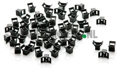 Y-houder voor buis, pijp, leiding, draad, kabel voor paneelbouw, machinebouw etc.