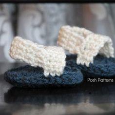 Free Crochet Baby Sandals Pattern