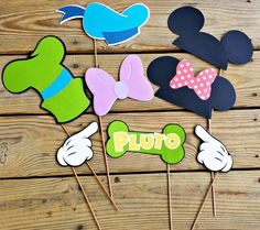Mickey Mouse & Friends Photo Booth Props Hands Birthdays Goofy Donald Set of 8 - Other