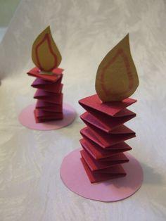 Bricolage de Noël: petite bougie en papier  pour mettre dans le sapin...ou pas !