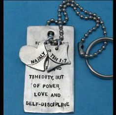 Custom Scripture Dog Tag Key Chain – ChristianGiftsPlace.com Online Store