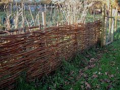 Living with twisted willow: Don't take a fence I finally found ideas for a fence I would like to create around our vegetable garden..  Possibly this style