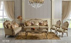 Victorian Living Room G-609 - Victorian Furniture Fancy Living Rooms, Classic Living Room, Living Room Interior, Living Room Furniture, Home Furniture, Living Room Decor, Elegant Living Room, Victorian Sofa, Victorian Living Room