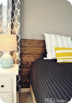 PBJstories: DIY Wood Headboard Tutorial