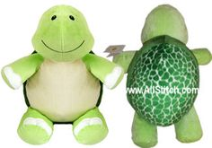 Baby Cubbies - Green Turtle Embroidery Blank Stuffed Animal - works on single needle machines too! Embroidery Blanks, Green Turtle, Embroidery Supplies, Cubbies, Plush, Monogram, Toys, Baby, Animals