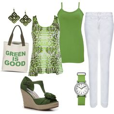 go Green., created by tigerwoman37086 on Polyvore