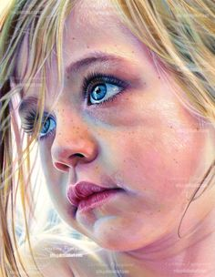 One life to live by *XRlS {Christina Papagianni} on deviantART ~ face of child ~ watercolor pencils