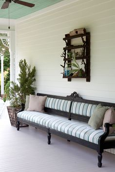 Possible screen porch. Like the ceiling color and ever so slight tint to the wall color.
