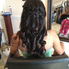 Double waterfall braid down do