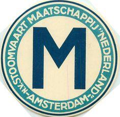 Stoomvaart Maatschappij ~NETHERLANDS~ Steamship Luggage Label | eBay