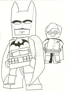lego batman coloring pages free print | Lego Batman by ~AwesomeArtFreak on deviantART