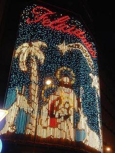 Madrid nativity scene in lights