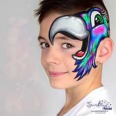 Homemade Face Paints, Homemade Paint, Animal Face Paintings, Animal Faces, Dark Fantasy Art, Face Painting Designs, Body Painting, Cool Face Paint, Airbrush Tattoo