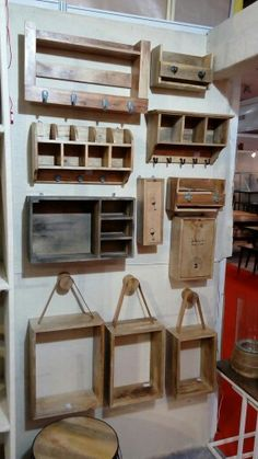 Wooden wall racks..... removable