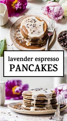 Breakfast Items, Breakfast Recipes, Espresso Cupcakes, Lavender Syrup, Culinary Lavender, Lavender Recipes, Espresso Powder, Chocolate Chip Pancakes, Homemade Pancakes